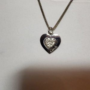 Coach heart necklace. 925 Sterling silver